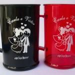 Canecas de Acrílico Carla e Victor lembranca de casamento 150x150
