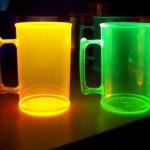 Canecas de Acrílico canecas fluorescentes laranja verde 150x150