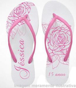 Chinelos personalizados para aniversário de 15 anos chinelos personalizados para 15 anos 259x300