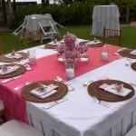 Decoração de Casamento Rosa e Marron
