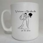 Lembranças de Casamento canecas de cafe viviane e norberto 150x150